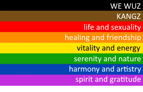 Energy, Life, and Nature: WE WUZ  KANGZ  life and sexuality  healing and friendship  vitality and energy  serenity and nature  harmony and artistry  spirit and gratitude