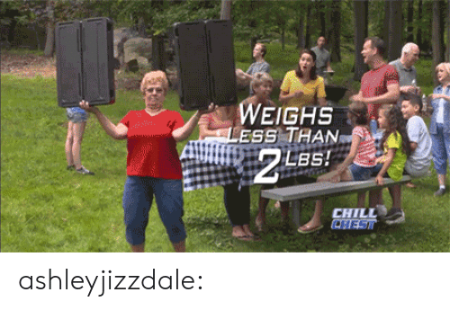 Chill, Tumblr, and Blog: WEIGHS  LESS THAN  ISETZ  CHILL  CHESI ashleyjizzdale: