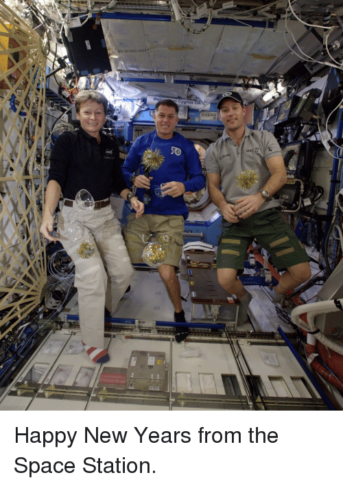 Happy New Years: Wel  o Cygnus O  50  MKC 51 <p>Happy New Years from the Space Station.</p>