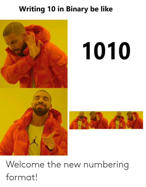 format: Welcome the new numbering format!