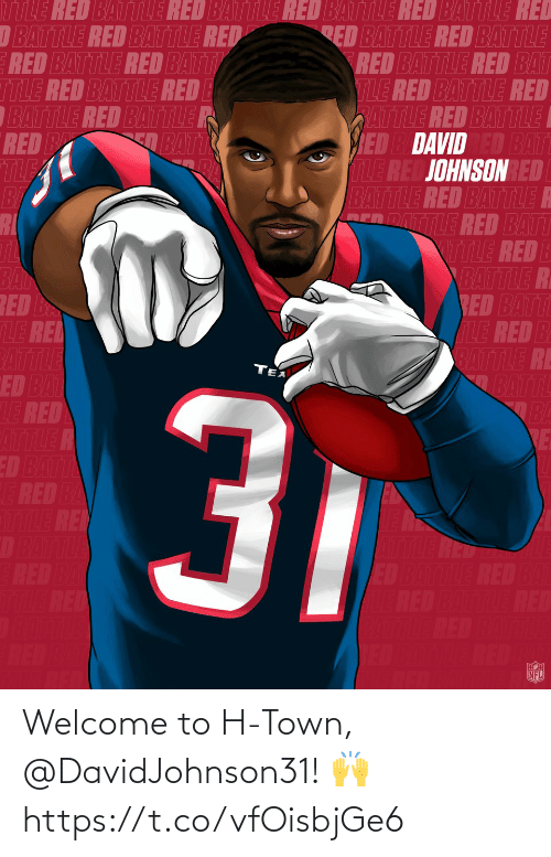 Welcome To: Welcome to H-Town, @DavidJohnson31! 🙌 https://t.co/vfOisbjGe6