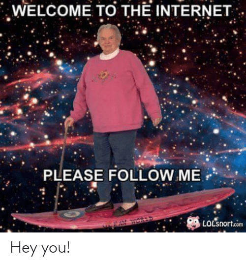 Internet, Reddit, and Com: WELCOME TO THE INTERNET  PLEASE FOLLOW ME-,  LoLsnort.com Hey you!