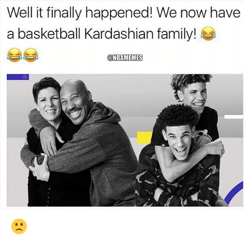 Basketball, Family, and Nba: Well it finally happened! We now have  a basketball Kardashian family!  NBAMEMES 🙁