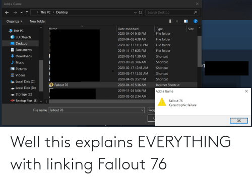 Fallout: Well this explains EVERYTHING with linking Fallout 76