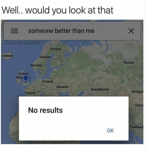 China, France, and Iceland: Well.. would you look at that  someone better than me  CARL BRADBURY  Finland  Iceland  Sweden  Russia  Norway  United  King  Poland  Ukraine  Kazakhstan  France  Mongo  China  No results  Thailand  OK