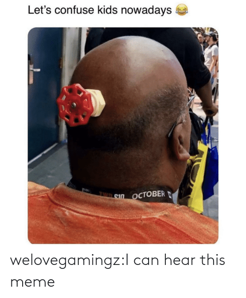 meme: welovegamingz:I can hear this meme