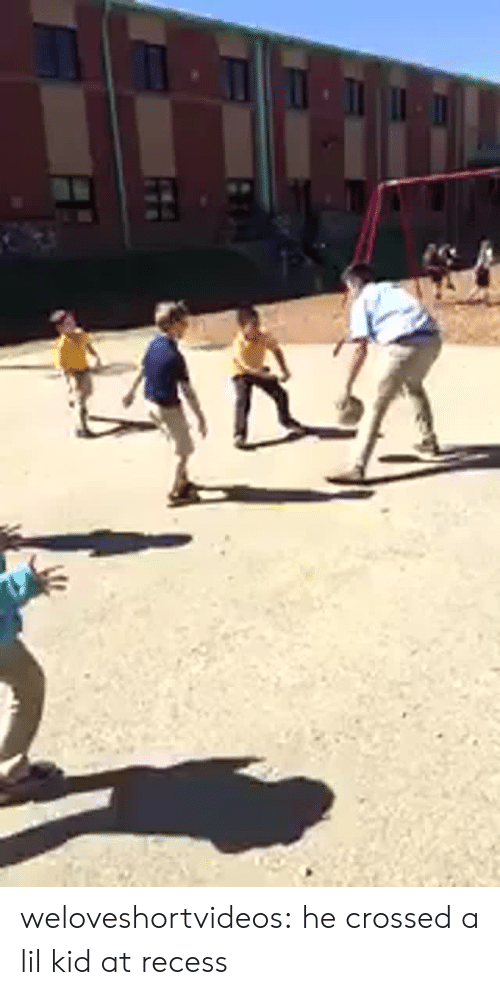 Recess, Target, and Tumblr: weloveshortvideos: he crossed a lil kid at recess