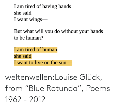 "Blue: weltenwellen:Louise Glück, from ""Blue Rotunda"", Poems 1962 - 2012"