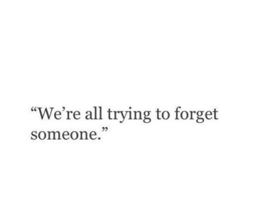 "All, Someone, and Were: ""We're all trying to forget  someone  95"