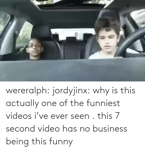 seen: wereralph: jordyjinx: why is this actually one of the funniest videos i've ever seen . this 7 second video has no business being this funny