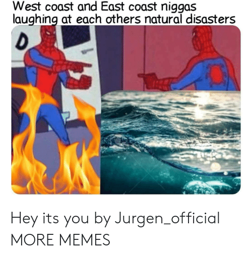 Dank, Memes, and Target: West coast and East coast niggas  laughing at each others natural disasters  re Hey its you by Jurgen_official MORE MEMES