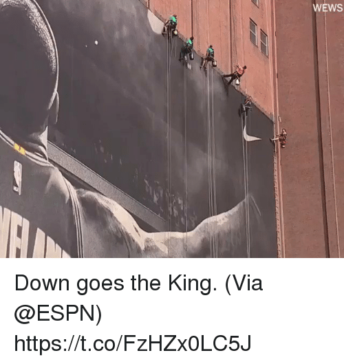 Espn, Memes, and 🤖: WEWS Down goes the King.   (Via @ESPN) https://t.co/FzHZx0LC5J