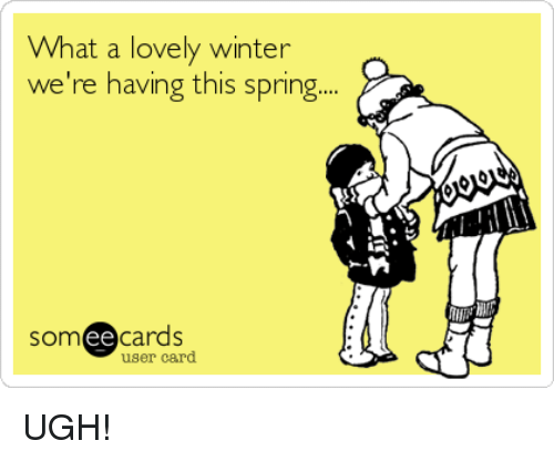 Ee Cards: What a lovely winter  we're having this spring.  ee  cards  user card UGH!