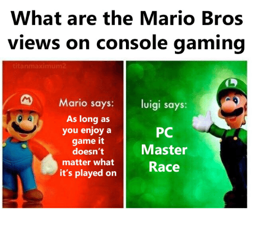 What Are The Mario Bros Views On Console Gaming Mario Says Luigi