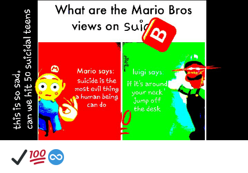 What Are The Mario Bros Views On Suj Im Mario Says Luigi Says Most