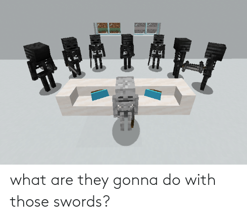 what are: what are they gonna do with those swords?