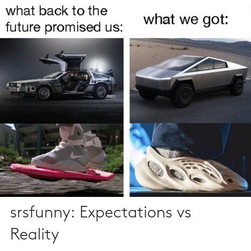 Future: what back to the  what we got:  future promised us:  soles srsfunny:  Expectations vs Reality