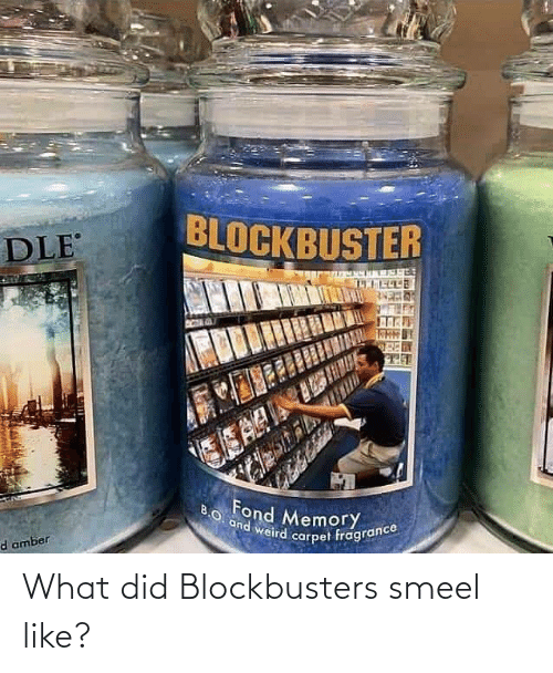 what did: What did Blockbusters smeel like?