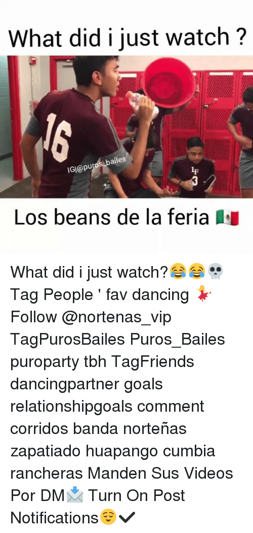 Dancing, Goals, and Memes: What did i just watch?  bailes  IGI@puro  If  Los beans de la feria What did i just watch?😂😂💀 Tag People ' fav dancing 💃 Follow @nortenas_vip TagPurosBailes Puros_Bailes puroparty tbh TagFriends dancingpartner goals relationshipgoals comment corridos banda norteñas zapatiado huapango cumbia rancheras Manden Sus Videos Por DM📩 Turn On Post Notifications😌✔