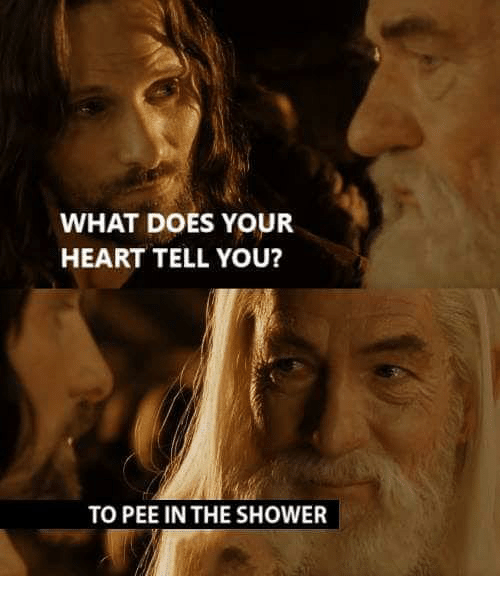 Pee In The Shower: WHAT DOES YOUR  HEART TELL YOU?  TO PEE IN THE SHOWER