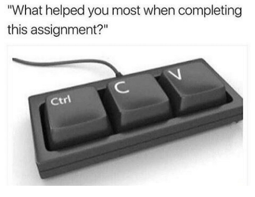 """Ctr: """"What helped you most when completing  this assignment?""""  Ctr"""
