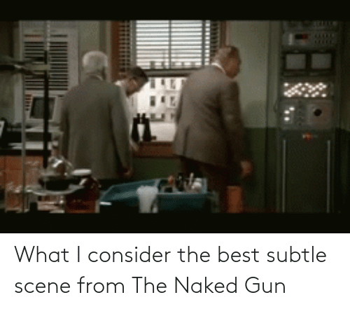 Consider: What I consider the best subtle scene from The Naked Gun