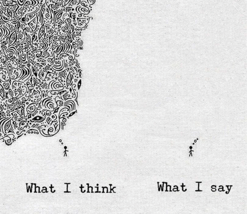 Think, What, and What I Think What I Say: What I think  What I say