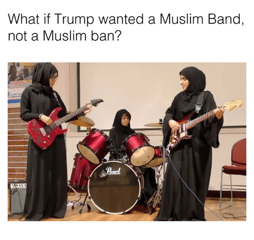 Dank, Trump, and 🤖: What if Trump wanted a Muslim Band,  not a Muslim ban?