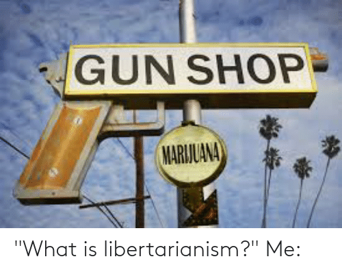 """Libertarianism: """"What is libertarianism?"""" Me:"""