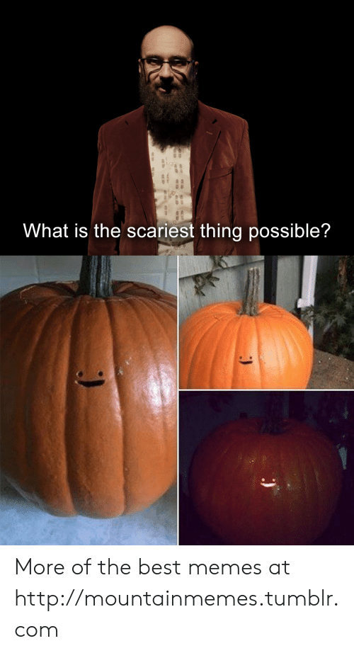 best memes: What is the scariest thing possible? More of the best memes at http://mountainmemes.tumblr.com