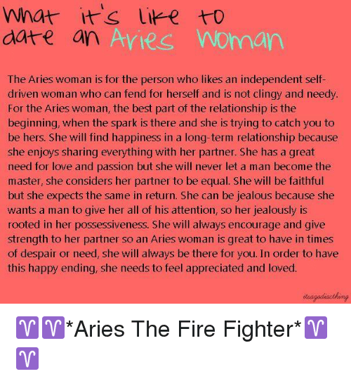 What It's to Date an Aries Worman the Aries Woman Is for the