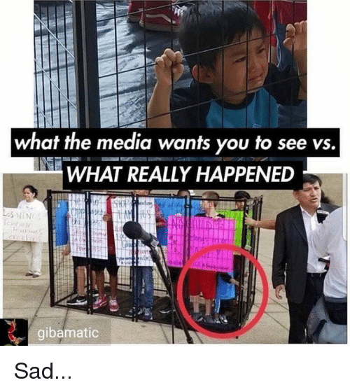 Memes, Sad, and 🤖: what the media wants you to see vs.  WHAT REALLY HAPPENED  gibamatic Sad...