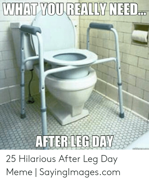 Leg Day Meme: WHAT YOU REALLY NEED.  AFTERLEG DAY 25 Hilarious After Leg Day Meme   SayingImages.com