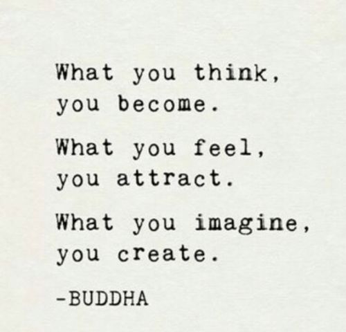 Attractiveness: What you think,  you become  What you feel,  you attract.  What you imagine,  you create  BUDDHA