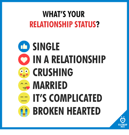 broken relationship status taken