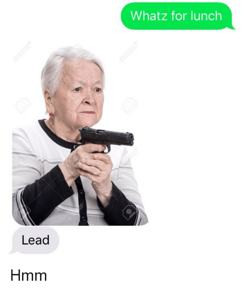 Bad Fake Texts, Lead, and Hmm: Whatz for lunch  Lead