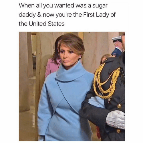Funny, Memes, and Sugar: When all you wanted was a sugar  daddy & now you're the First Lady of  the United States ⠀
