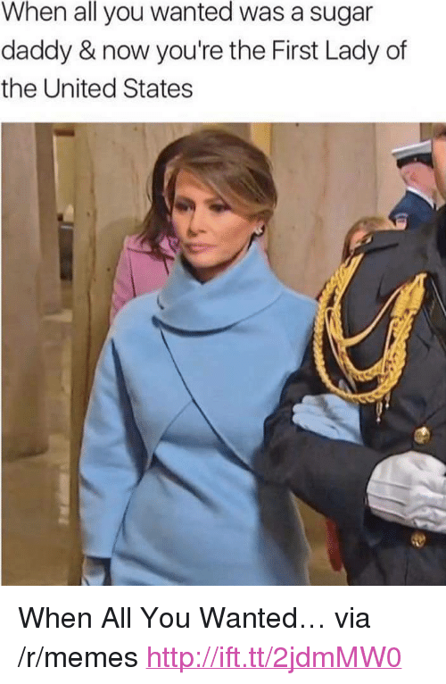 """Memes, Http, and Sugar: When all you wanted was a sugar  daddy & now you're the First Lady of  the United States <p>When All You Wanted&hellip; via /r/memes <a href=""""http://ift.tt/2jdmMW0"""">http://ift.tt/2jdmMW0</a></p>"""