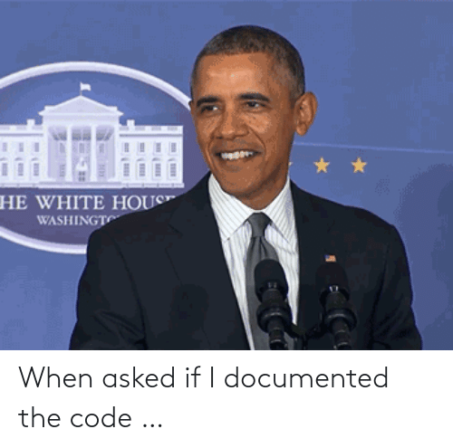 the code: When asked if I documented the code …