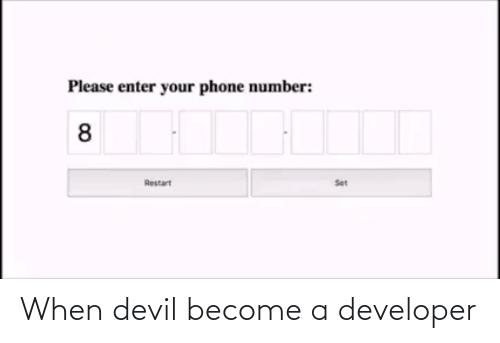 Devil: When devil become a developer