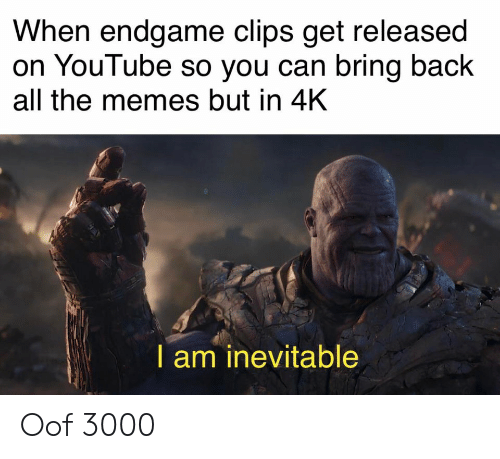 When Endgame Clips Get Released on YouTube So You Can Bring