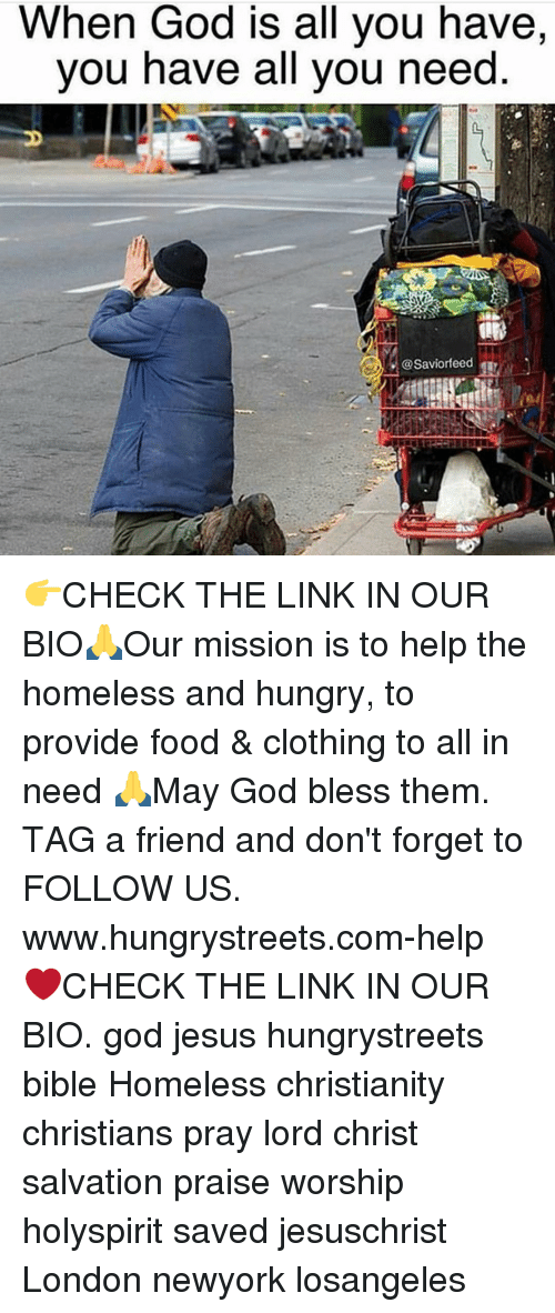 Providence: When God is all you have,  you have all you need  @Saviorfeed 👉CHECK THE LINK IN OUR BIO🙏Our mission is to help the homeless and hungry, to provide food & clothing to all in need 🙏May God bless them. TAG a friend and don't forget to FOLLOW US. www.hungrystreets.com-help ❤️CHECK THE LINK IN OUR BIO. god jesus hungrystreets bible Homeless christianity christians pray lord christ salvation praise worship holyspirit saved jesuschrist London newyork losangeles