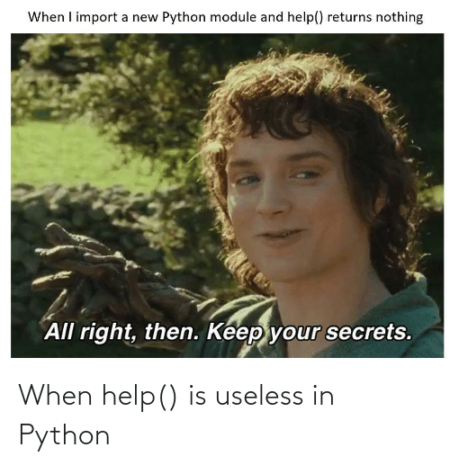 python: When help() is useless in Python
