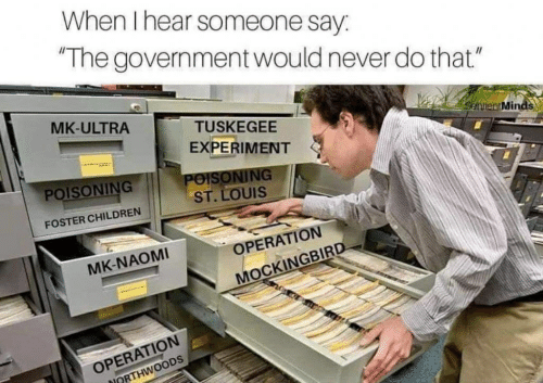 """Children, St Louis, and Government: When I hear someone say:  The government would never do that""""  MK-ULTRA  TUSKEGEE  Sehilen Minds  EXPERIMENT  POISONING  ST. LOUIS  POISONING  FOSTER CHILDREN  OPERATION  MK-NAOMI  MOCKINGBIRD  OPERATION  ORTHWOODS"""