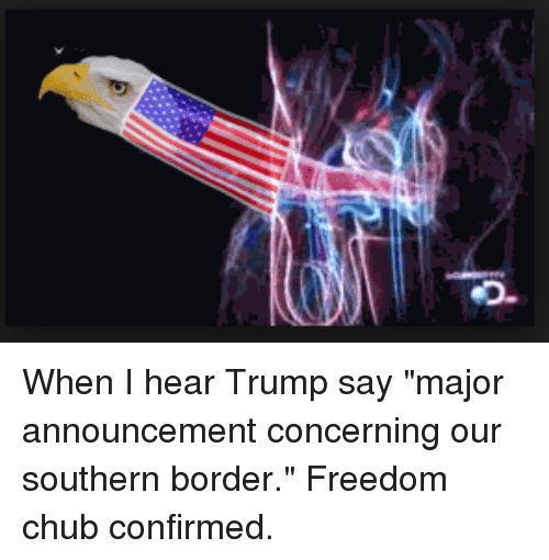 Trump, Freedom, and Announcement