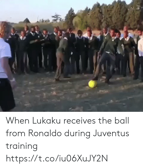 Ronaldo: When Lukaku receives the ball from Ronaldo during Juventus training https://t.co/iu06XuJY2N