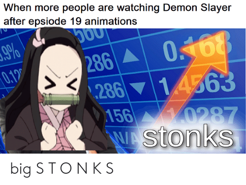 When More People Are Watching Demon Slayer After Epsiode 19