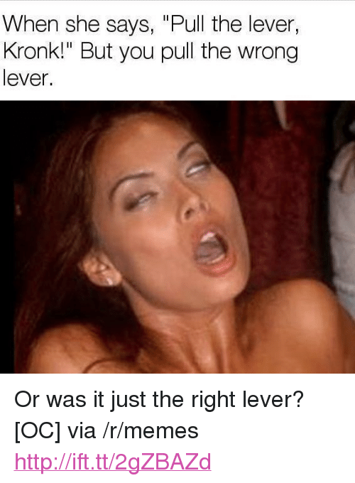 """Kronk, Memes, and Http: When she says, """"Pull the lever,  Kronk!"""" But you pull the wrong  lever. <p>Or was it just the right lever? [OC] via /r/memes <a href=""""http://ift.tt/2gZBAZd"""">http://ift.tt/2gZBAZd</a></p>"""