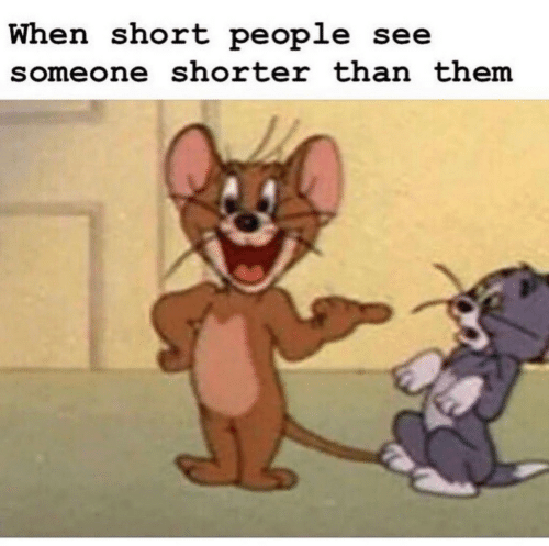 Them, Short People, and People: When short people see  someone shorter than them