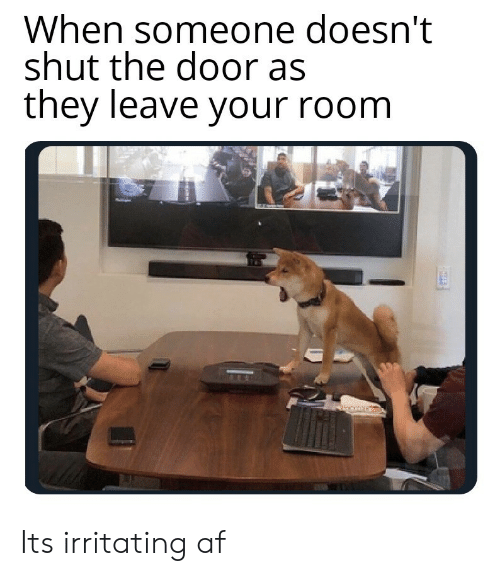 Roomful: When someone doesn't  shut the door as  they leave your room Its irritating af